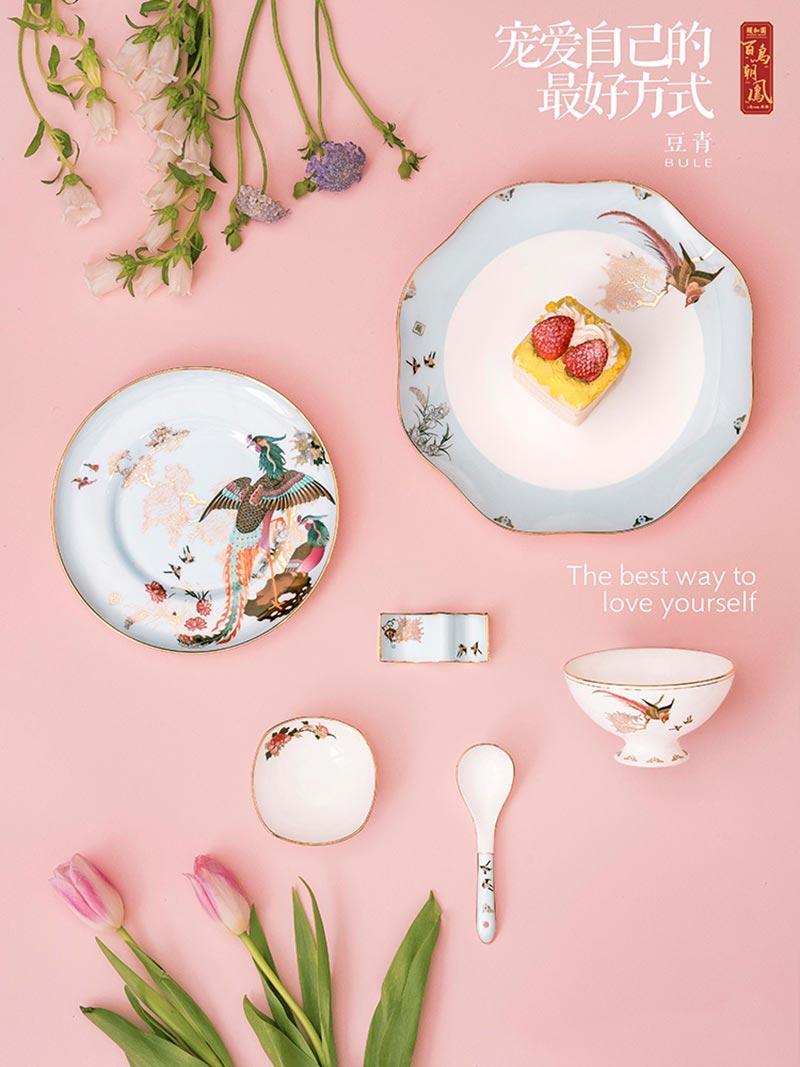 景德镇陶瓷餐具散件批发的图片