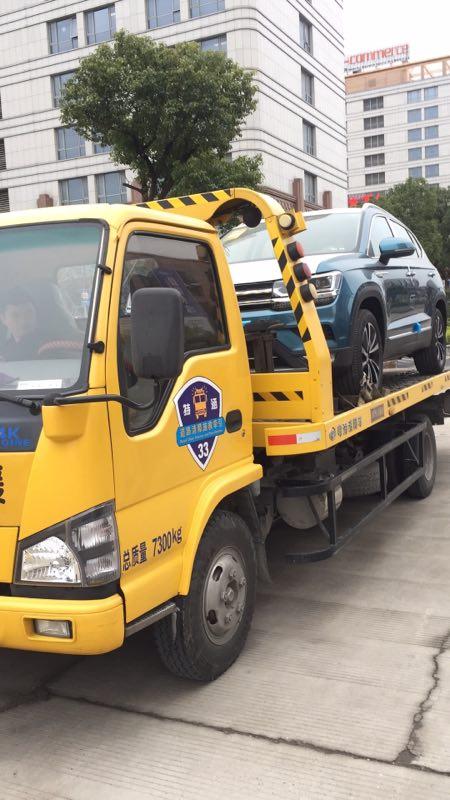 上海长宁专业拖车公司新车拖运汽车道路救援拖车的图片