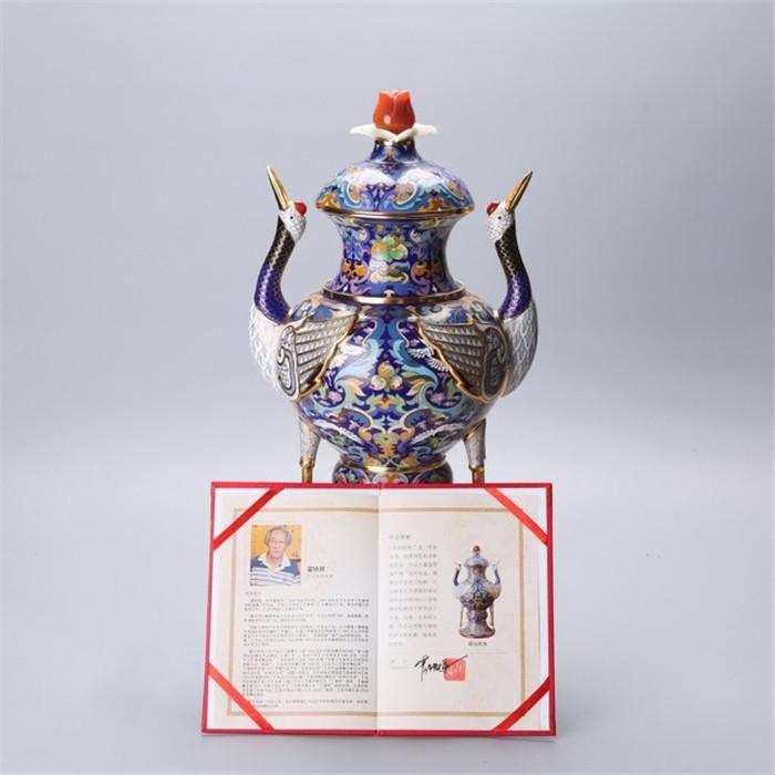 霍铁辉景泰蓝群仙祝寿的图片